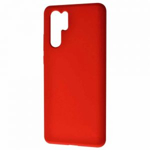 Чехол Silicone Case WAVE Full с микрофиброй для Huawei P30 Pro – Red