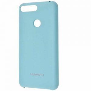 Оригинальный чехол Silicone Case с микрофиброй для Huawei Y6 Prime 2018 / Honor 7A Pro / 7C – Turquoise