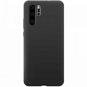Чехол Silicone Case WAVE Full с микрофиброй для Huawei P30 Pro – Black