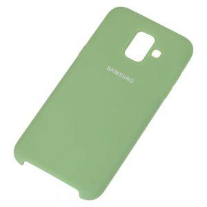 Оригинальный чехол Silicone Case с микрофиброй для Samsung А605 Galaxy А6 Plus (2018) – Mint Gum