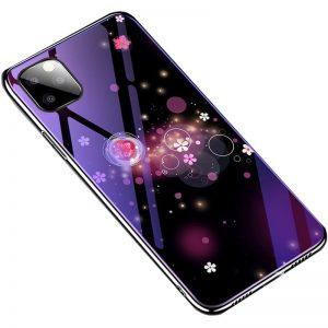 TPU+Glass чехол Fantasy с глянцевыми торцами для Iphone 11 Pro Max – Пузырьки и цветы