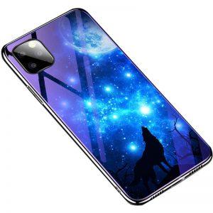 TPU+Glass чехол Fantasy с глянцевыми торцами для Iphone 11 Pro Max – Лунная ночь
