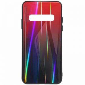 TPU+Glass чехол Gradient Aurora с градиентом для Samsung Galaxy S10e (G970) – Красный