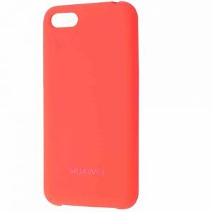 Оригинальный чехол Silicone Case с микрофиброй для Huawei Y5 / Y5 Prime 2018 – Bright pink