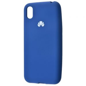 Оригинальный чехол Silicone Cover 360 с микрофиброй для Huawei Y5 2019 / Honor 8s – Blue