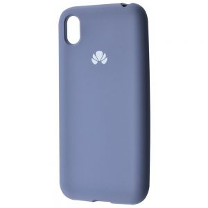 Оригинальный чехол Silicone Cover 360 с микрофиброй для Huawei Y5 2019 / Honor 8s – Lavender gray