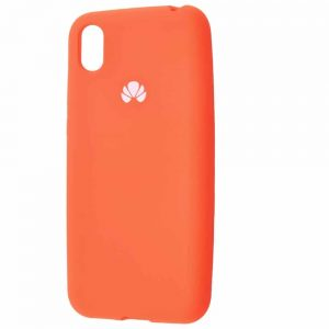 Оригинальный чехол Silicone Cover 360 с микрофиброй для Huawei Y5 2019 / Honor 8s – Orange