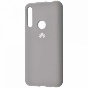 Оригинальный чехол Silicone Cover 360 с микрофиброй для Huawei P Smart Z / Honor 9x – Gray
