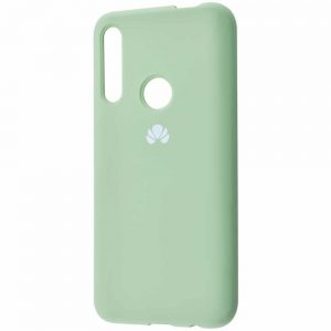 Оригинальный чехол Silicone Cover 360 с микрофиброй для Huawei P Smart Z / Honor 9x – Mint gum