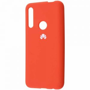 Оригинальный чехол Silicone Cover 360 с микрофиброй для Huawei P Smart Z / Honor 9x – Orange