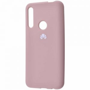 Оригинальный чехол Silicone Cover 360 с микрофиброй для Huawei P Smart Z / Honor 9x – Pink sand