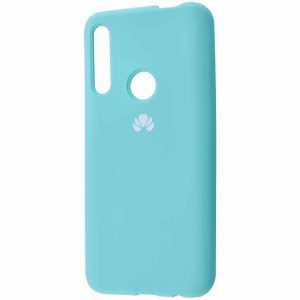 Оригинальный чехол Silicone Cover 360 с микрофиброй для Huawei P Smart Z / Honor 9x – Turquoise
