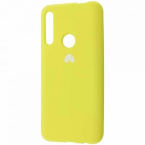 Оригинальный чехол Silicone Cover 360 с микрофиброй для Huawei P Smart Z / Honor 9x – Yellow
