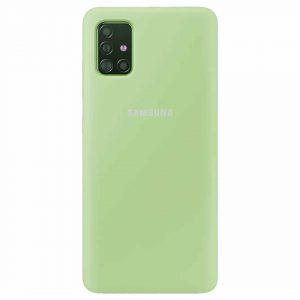 Оригинальный чехол Silicone Cover 360 с микрофиброй для Samsung Galaxy A51 – Мятный / Mint