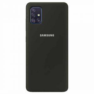 Оригинальный чехол Silicone Cover 360 с микрофиброй для Samsung Galaxy A51 – Оливковый / Olive
