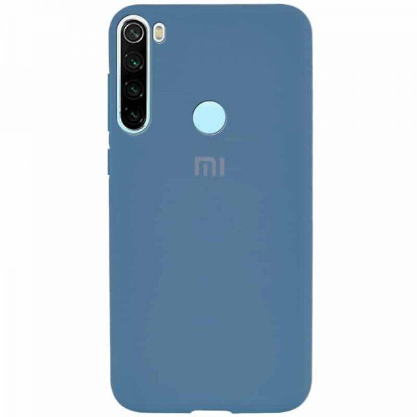 Оригинальный чехол Silicone Cover 360 с микрофиброй для Xiaomi Redmi Note 8T – Синий / Denim Blue