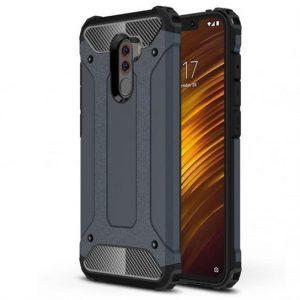 Противоударный бронированный чехол Spigen для Xiaomi Pocophone F1 – Серый / Metal slate