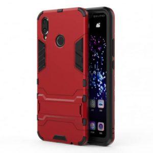 Ударопрочный чехол Transformer с подставкой для Huawei Y7 2019 – Красный / Dante Red