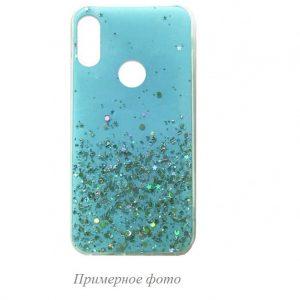 Cиликоновый чехол с блестками Shine Glitter для Xiaomi Redmi 8 / 8A – Sky blue