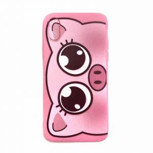 Силиконовый чехол Cute Pig для Iphone X / XS – Розовый