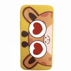 Силиконовый чехол Cute Love Giraffe для Iphone X / XS – Желтый