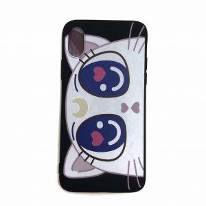 Силиконовый чехол Cute Sailor Moon Cat для Iphone X / XS – Черный