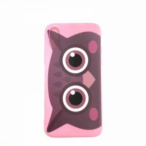 Силиконовый чехол Cute Owl для Iphone X / XS – Розовый