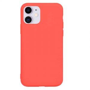 Матовый силиконовый TPU чехол для Iphone 11 – Red