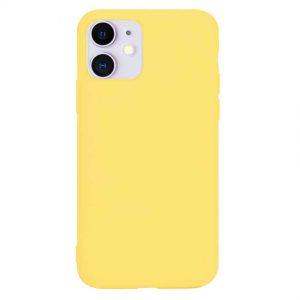 Матовый силиконовый TPU чехол для Iphone 11 – Yellow