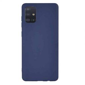 Матовый силиконовый TPU чехол для Samsung Galaxy A51 – Navy Blue