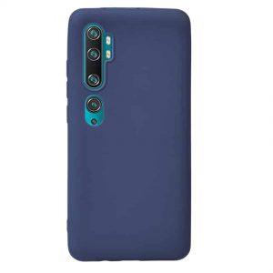 Матовый силиконовый TPU чехол для Xiaomi Mi Note 10 / 10 Pro – Navy Blue