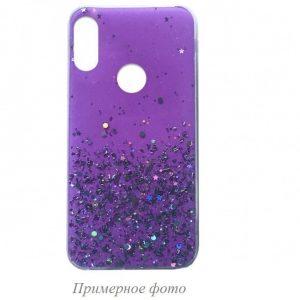 Cиликоновый чехол с блестками Shine Glitter для Xiaomi Redmi 8 / 8A – Light violet