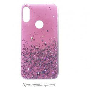 Cиликоновый чехол с блестками Shine Glitter для Xiaomi Redmi 8 / 8A – Light pink