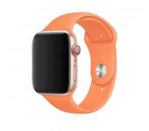 Ремешок силиконовый для Apple Watch 38 mm / 40 mm / SE 40 mm – №51 – Papaya