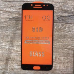 Защитное стекло 21D Full Glue Cover Glass на весь экран для Samsung Galaxy J7 2017 (J730) – Black