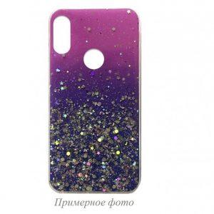 Cиликоновый чехол с блестками Shine Glitter для Xiaomi Redmi 8 / 8A – Pink blue