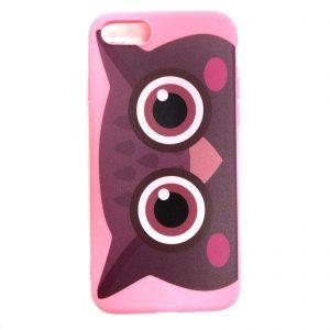 Силиконовый чехол Cute Owl для Iphone 7 / 8 / SE (2020) – Розовый