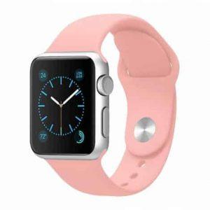 Ремешок силиконовый для Apple Watch 38 mm / 40 mm №14 – Light Pink