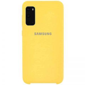 Оригинальный чехол Silicone Case с микрофиброй для Samsung Galaxy S20 – Желтый / Yellow
