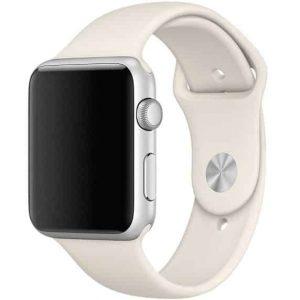 Ремешок силиконовый для Apple Watch 42 mm / 44 mm №16 – Light Cocoa