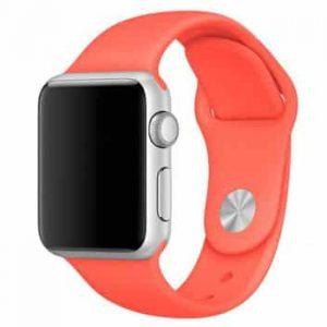 Ремешок силиконовый для Apple Watch 38 mm / 40 mm / SE 40 mm №18 – Orange