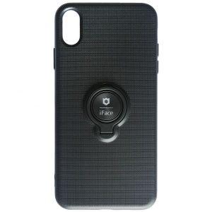 Cиликоновый чехол iFace под магнитный держатель с кольцом для Iphone XR – Black