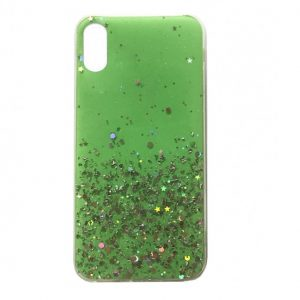 Cиликоновый чехол с блестками Shine Glitter для Iphone XR – Green