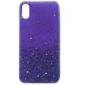 Cиликоновый чехол с блестками Shine Glitter для Iphone XR – Violet