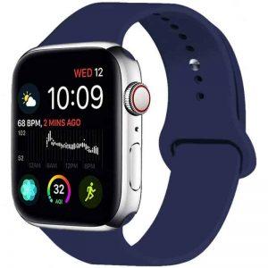 Ремешок силиконовый для Apple Watch 42 mm / 44 mm №22 – Dark Blue