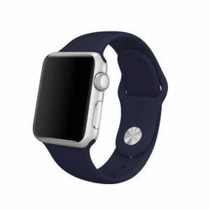 Ремешок силиконовый для Apple Watch 38 mm / 40 mm №22 – Dark Blue