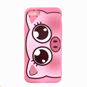 Силиконовый чехол Cute Pig для Iphone 7 Plus / 8 Plus – Розовый