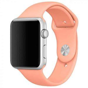 Ремешок силиконовый для Apple Watch 38 mm / 40 mm / SE 40 mm №25 – Flamingo
