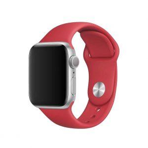 Ремешок силиконовый для Apple Watch 42 mm / 44 mm №26 – Burgundy
