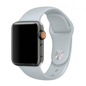 Ремешок силиконовый для Apple Watch 42 mm / 44 mm №33 – Light Blue